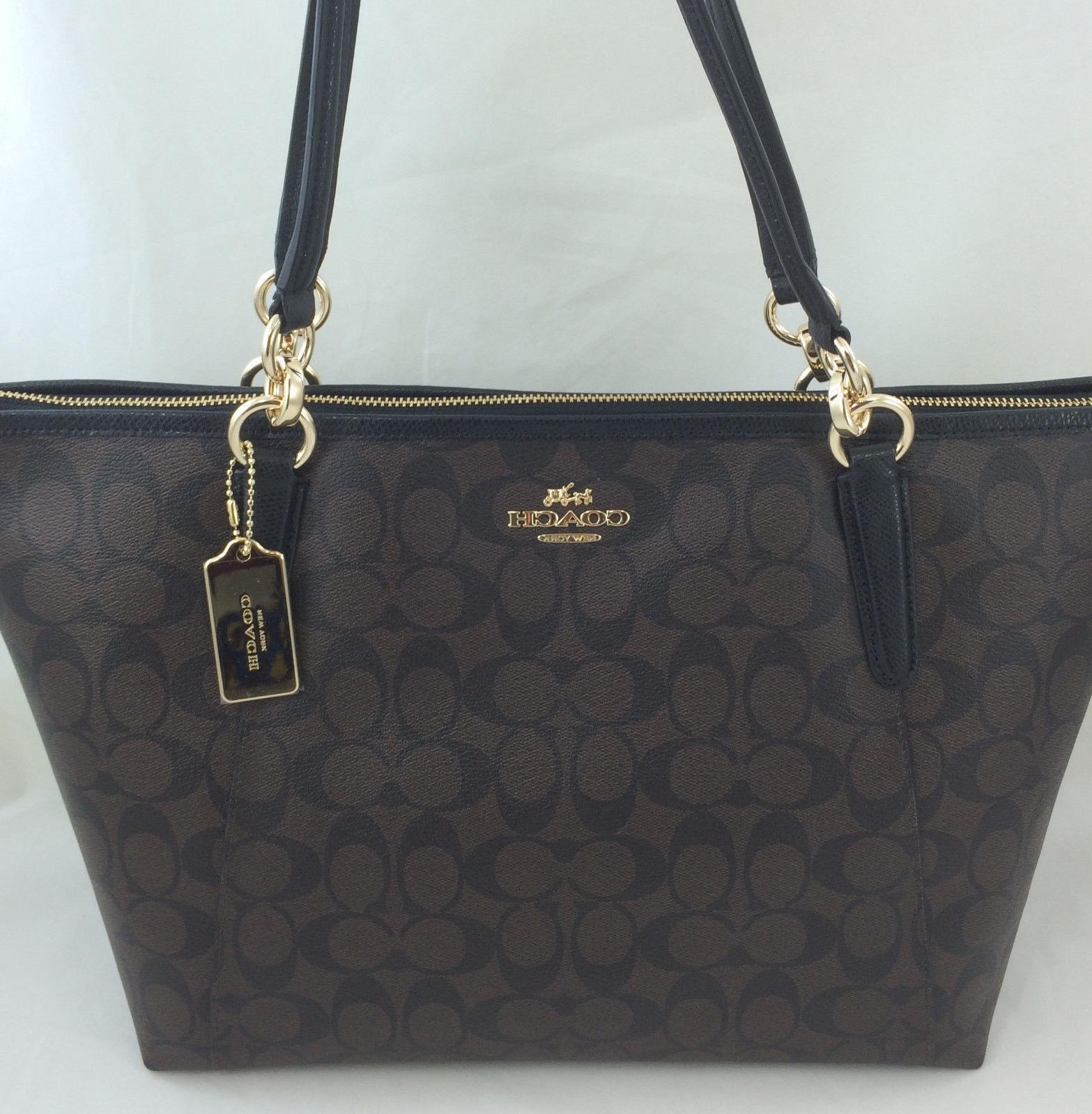 New Authentic COACH F58318 AVA Signature Tote Handbag Purse