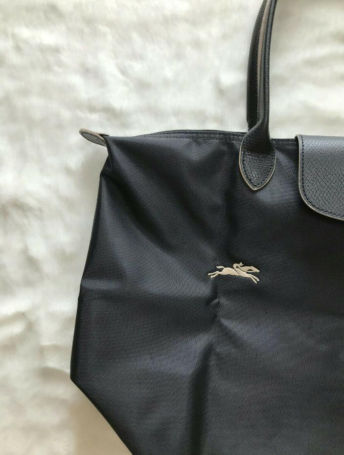 New Longchamp Pliage 1899 Nylon Bag Horse Embroidery Handbags