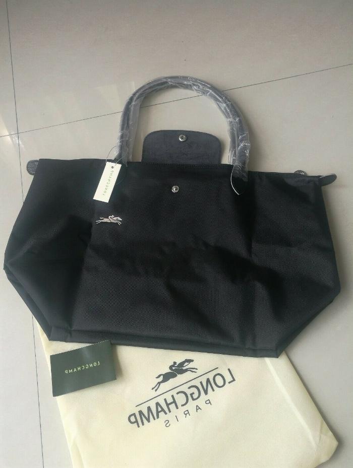 New Longchamp Pliage Nylon Bag Horse Embroidery Handbags