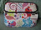 NEW BRIGHT COLORFUL PATTERNED ZIPPERED TABLET-IPAD MINI Tote