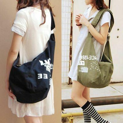 new cotton canvas shoulder sling hobo messenger