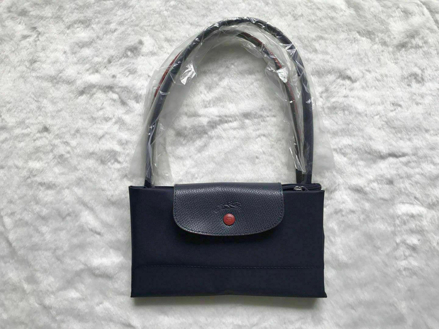NEW Tote Bag 1899 Horse Embroidery Navy blue Large L