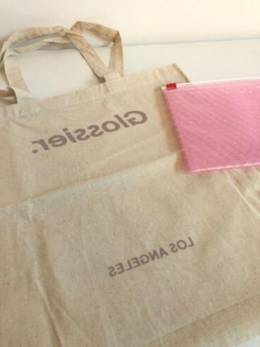 new los angeles tote bag and pink
