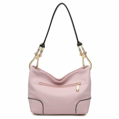 Dasein Handbag Corner Patched Hobo Tote Shoulder