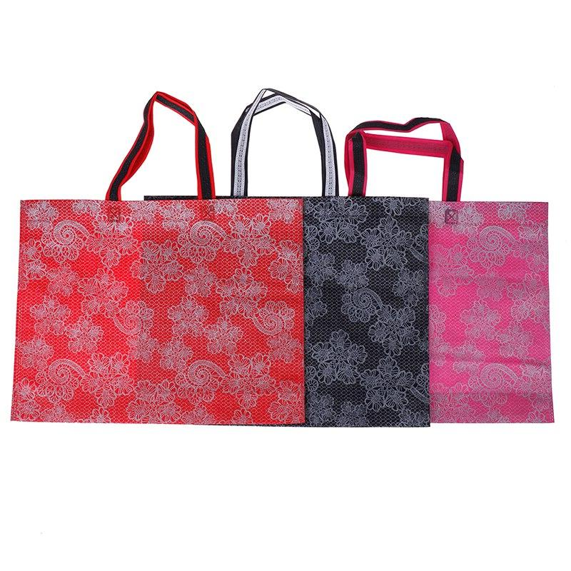 New Foldable Shopping <font><b>Bag</b></font> Thick Handbag Casual Large Capacity Nylon Free