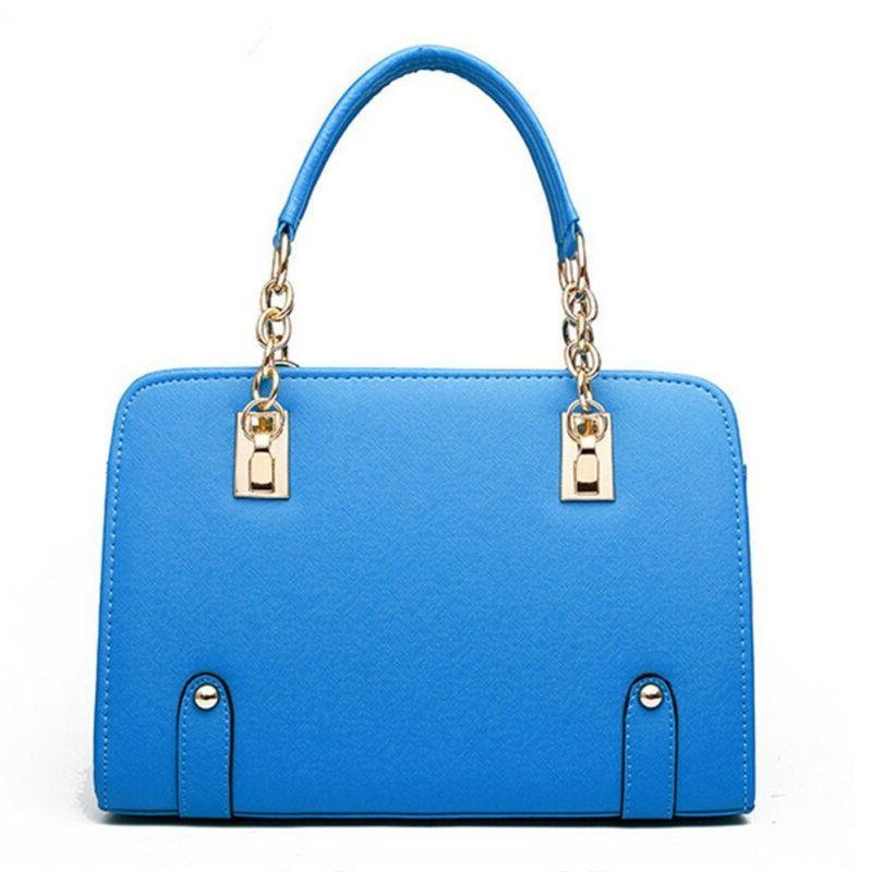 New Luxury PU Leather Shoulder <font><b>Bag</b></font> <font><b>Tote</b></font> Purse Ladies Messenger Satchel
