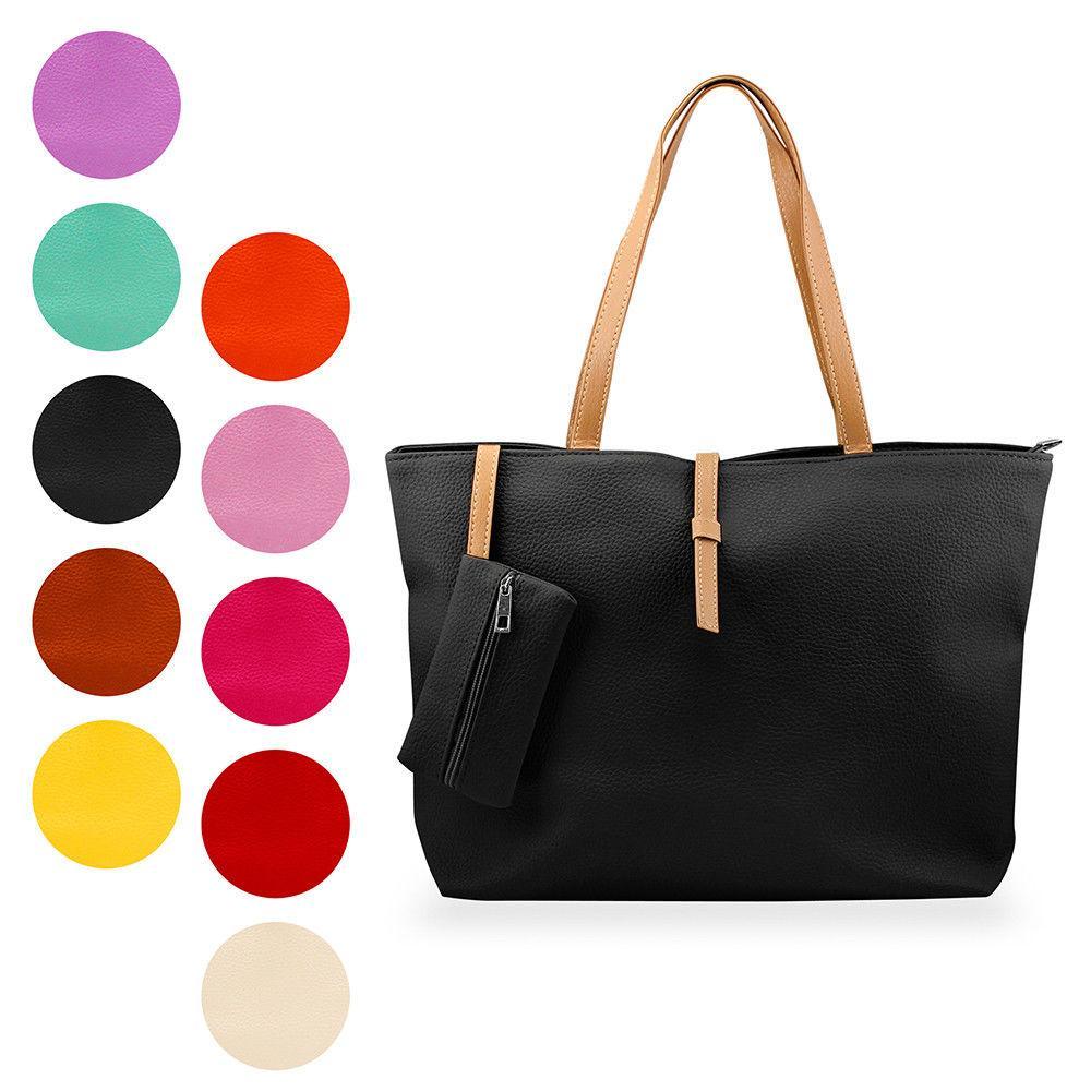 New Womens Faux Leather Fashion Messenger Handbag Shoulder Bag