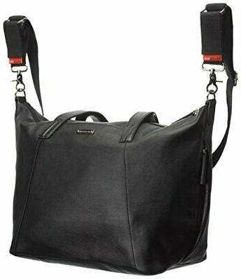 Storksak Noa Leather Bag Diaper Organizer Black