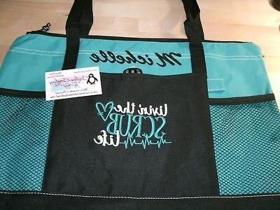 Nurse Scrub Life Personalized Tote Bag LPN, RN, CNA, HHA, BS