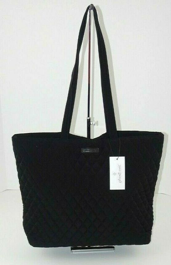 NWT Vera Bradley Tote Bag Classic Black Microfiber