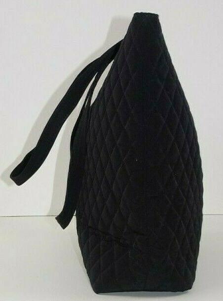 NWT Tote Bag Black Microfiber