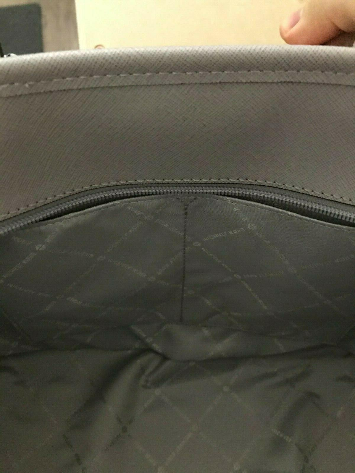 NWT Michael Set Multifunction Zip Leather Tote Purse