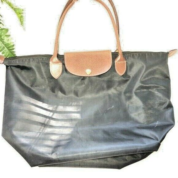 nylon black tote bag