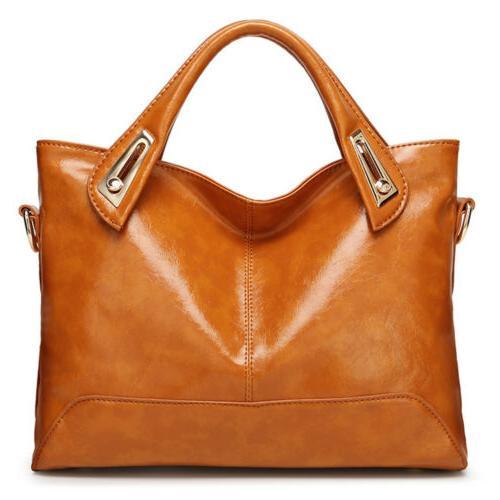 Oil Wax Purse Messenger Shoulder Bag Women