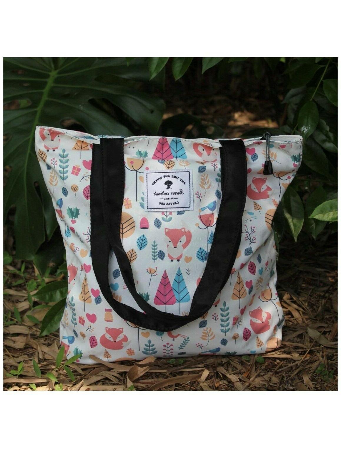 Original Floral Tote Shoulder Bag Hiking Picnic Travel