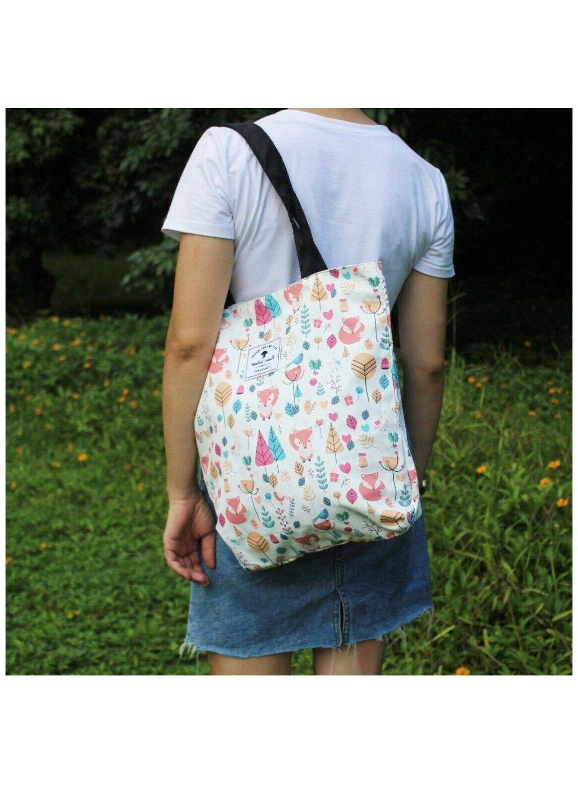 Original Floral Tote Shoulder Bag for Hiking