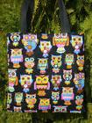 Owl Owls Tote Bag Mosaic Bird  Lunch or Book Bag Great Gift