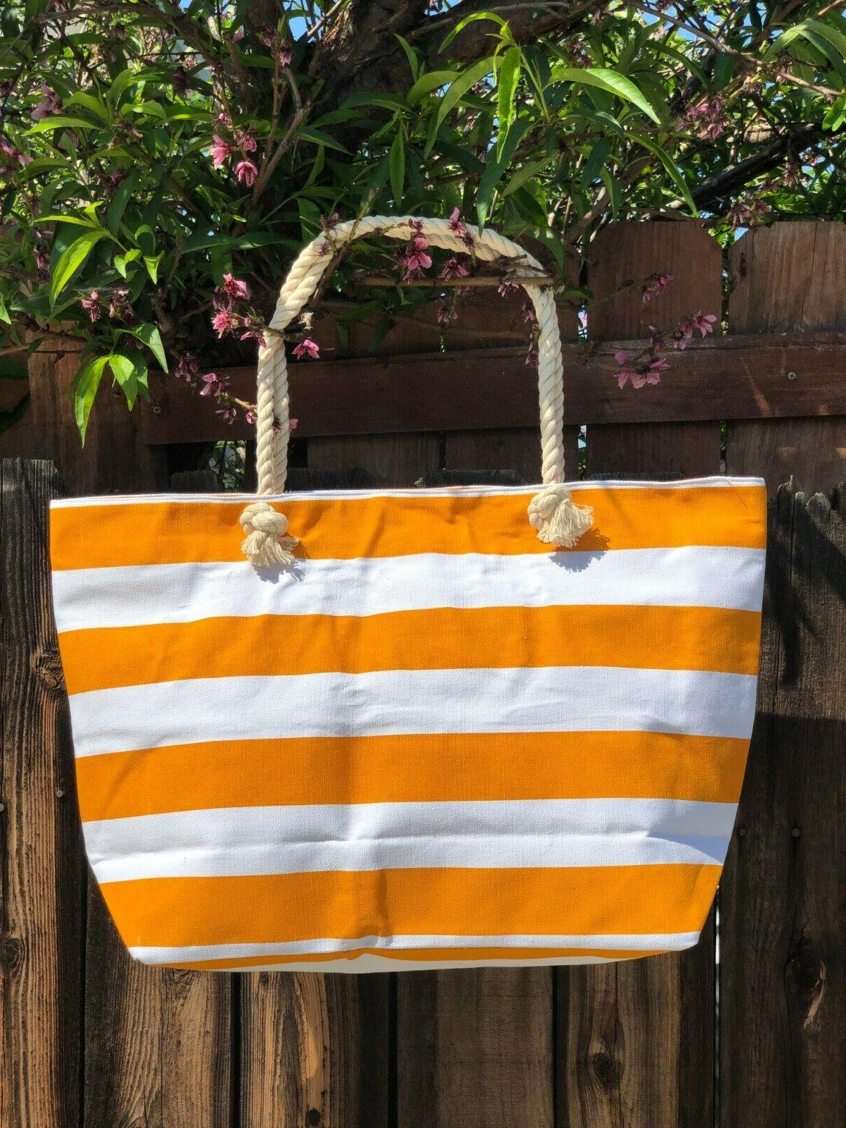 Extra Large Canvas Tote Bag-Beach Bag-Reinforced Shoulder St