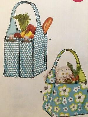 PATTERN Fabric Tote Grocery Bag Weekender UNCUT OOP 6588