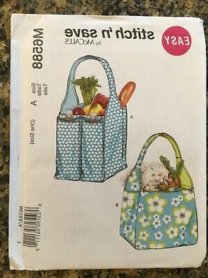 pattern fabric tote bag grocery bag picnic