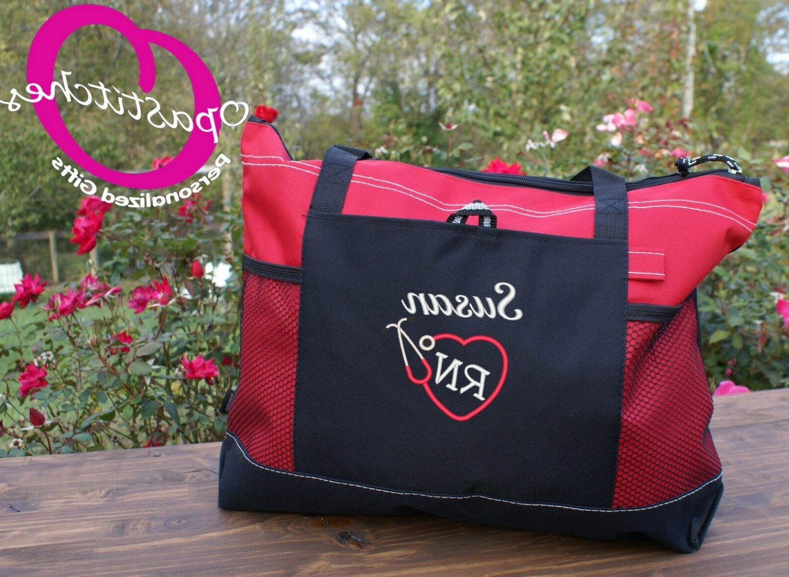 Personalized embroidered Nursing tote bag , medical tote, RN