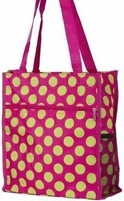 World Traveler Polka Dot Print Collection Travel Tote Bag 12