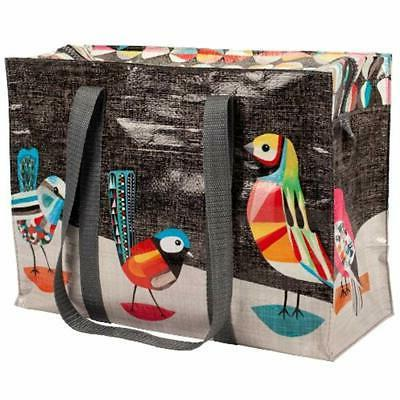 pretty reusable grocery bags bird shoulder tote