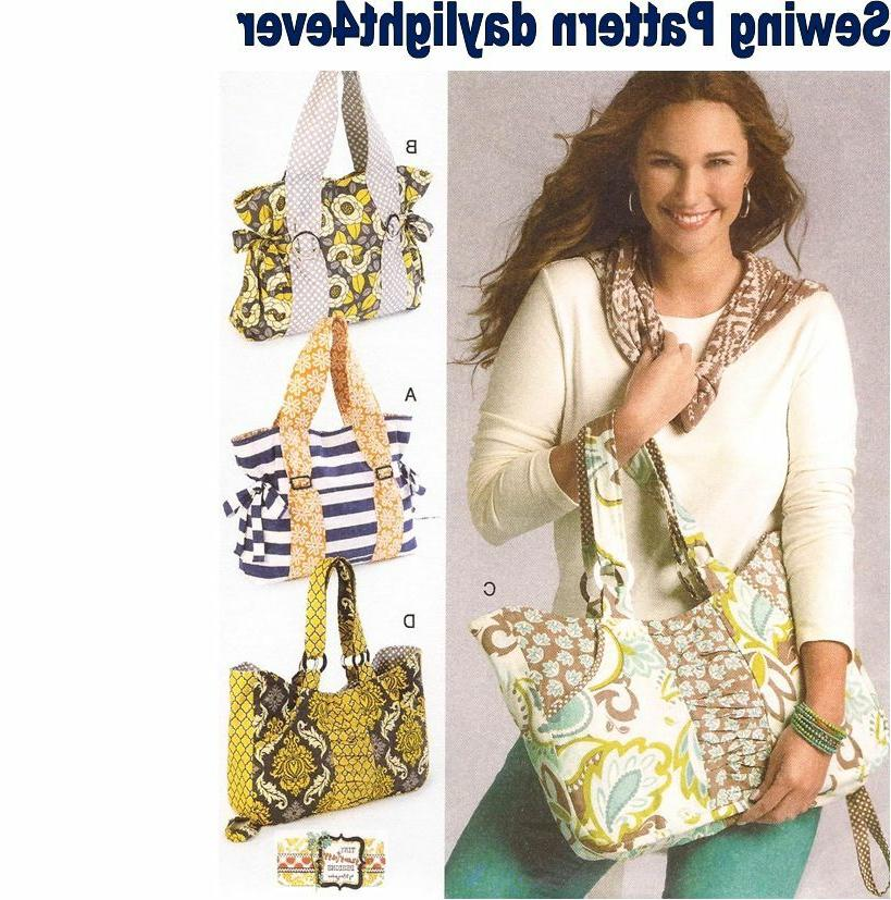 Purse 4 Styles Large Tote Bag Sewing Pattern 6905 McCall's