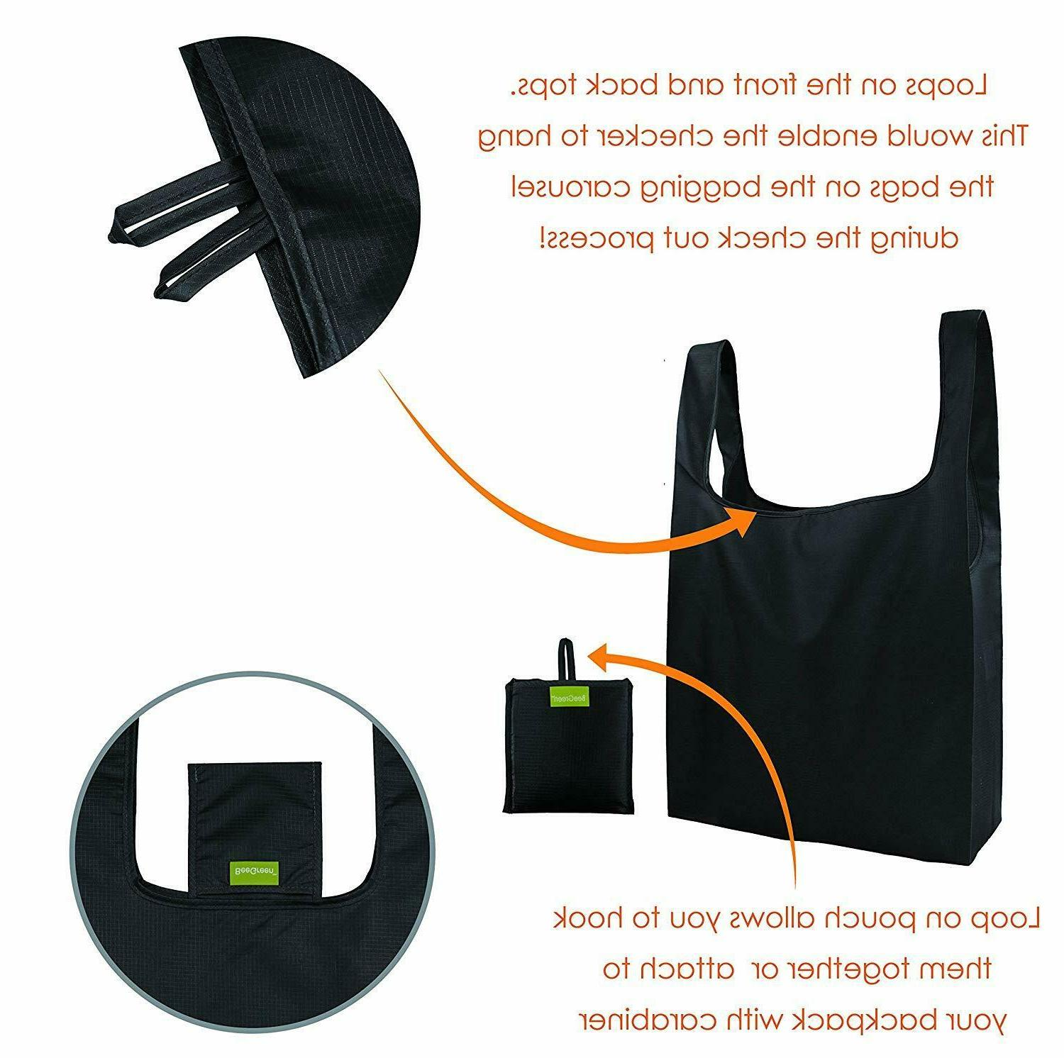 Reusable Bags 5,Grocery Tote Foldable into Attached , Kitchen