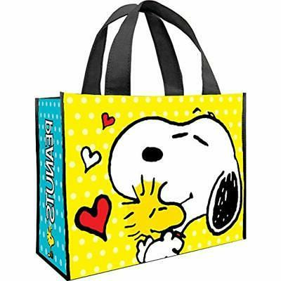 reusable grocery bags peanuts large recycled shopper