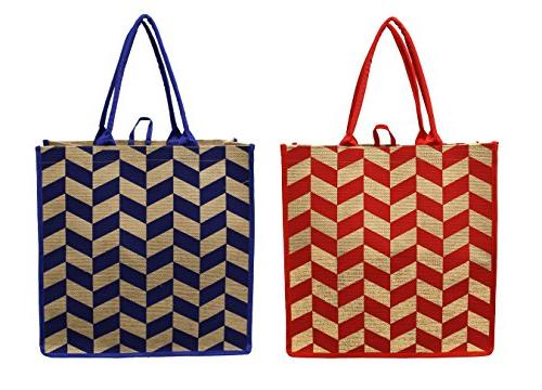 Earthwise Bags Shopping Tote Bag EXTRA Cotton Jute DUTY