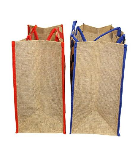 Earthwise Reusable Grocery Shopping Beach Tote Bag LARGE Jute DUTY