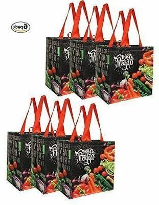 reusable grocery bags shopping totes pack of