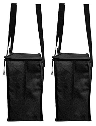 Earthwise Reusable Insulated Grocery Bags Heavy Duty Nylon Thermal Tote In all Closure KEEPS OR COLD