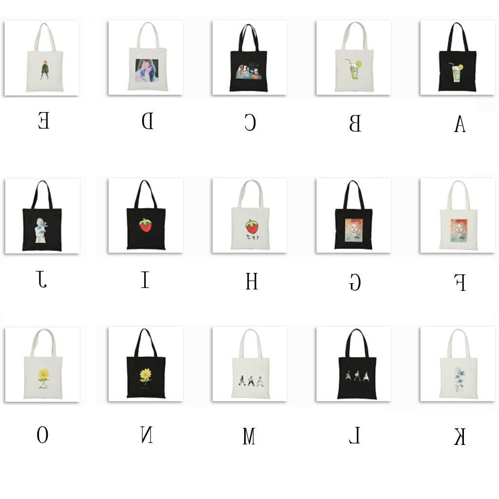 Reusable <font><b>Bag</b></font> Fashion Women <font><b>Tote</b></font> Printing eco <font><b>Bag</b></font> Cartoon bolsa de compras Shopper Shoulder