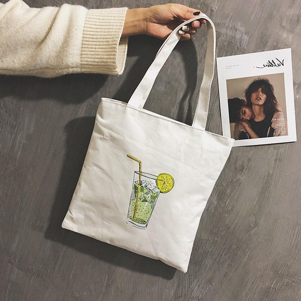 Reusable Shopping <font><b>Bag</b></font> Women Printing bolsa compras