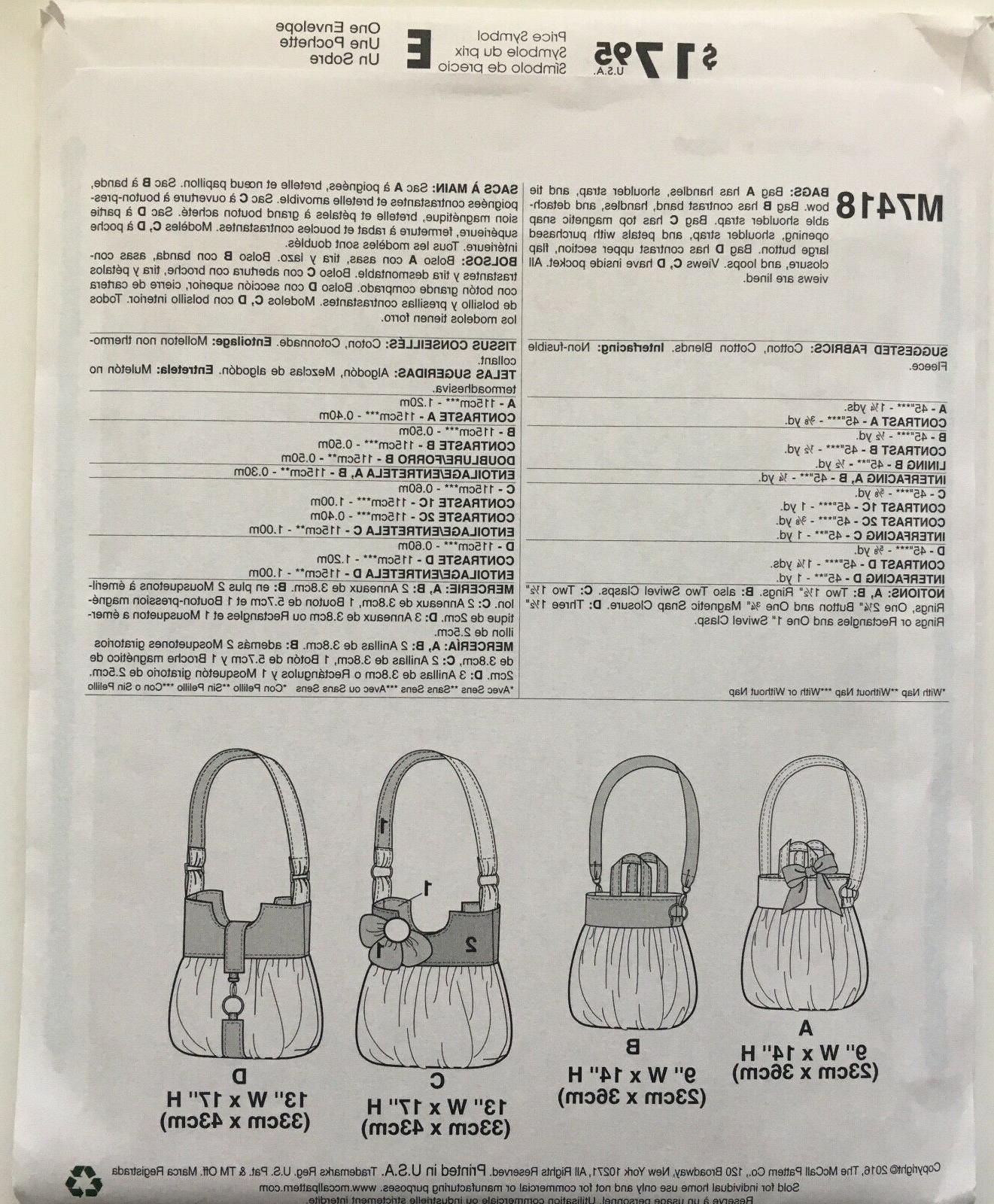 McCalls Shoulder Tote Hobo Bags 2