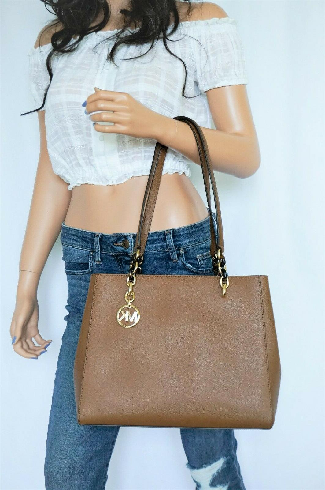 MICHAEL KORS SOFIA LARGE SAFFIANO LEATHER