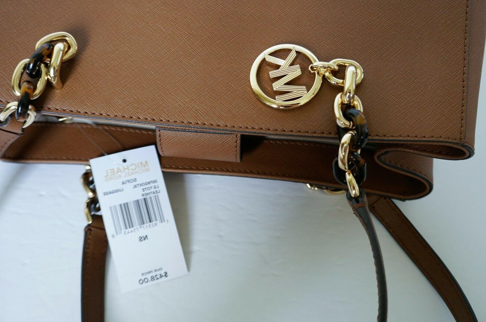 MICHAEL LARGE SAFFIANO LEATHER BAG LUGGAGE