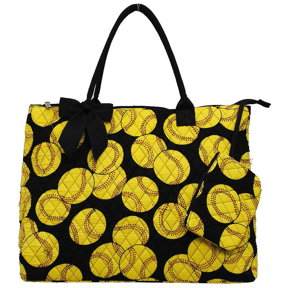 Softball Quilted OverNight Tote