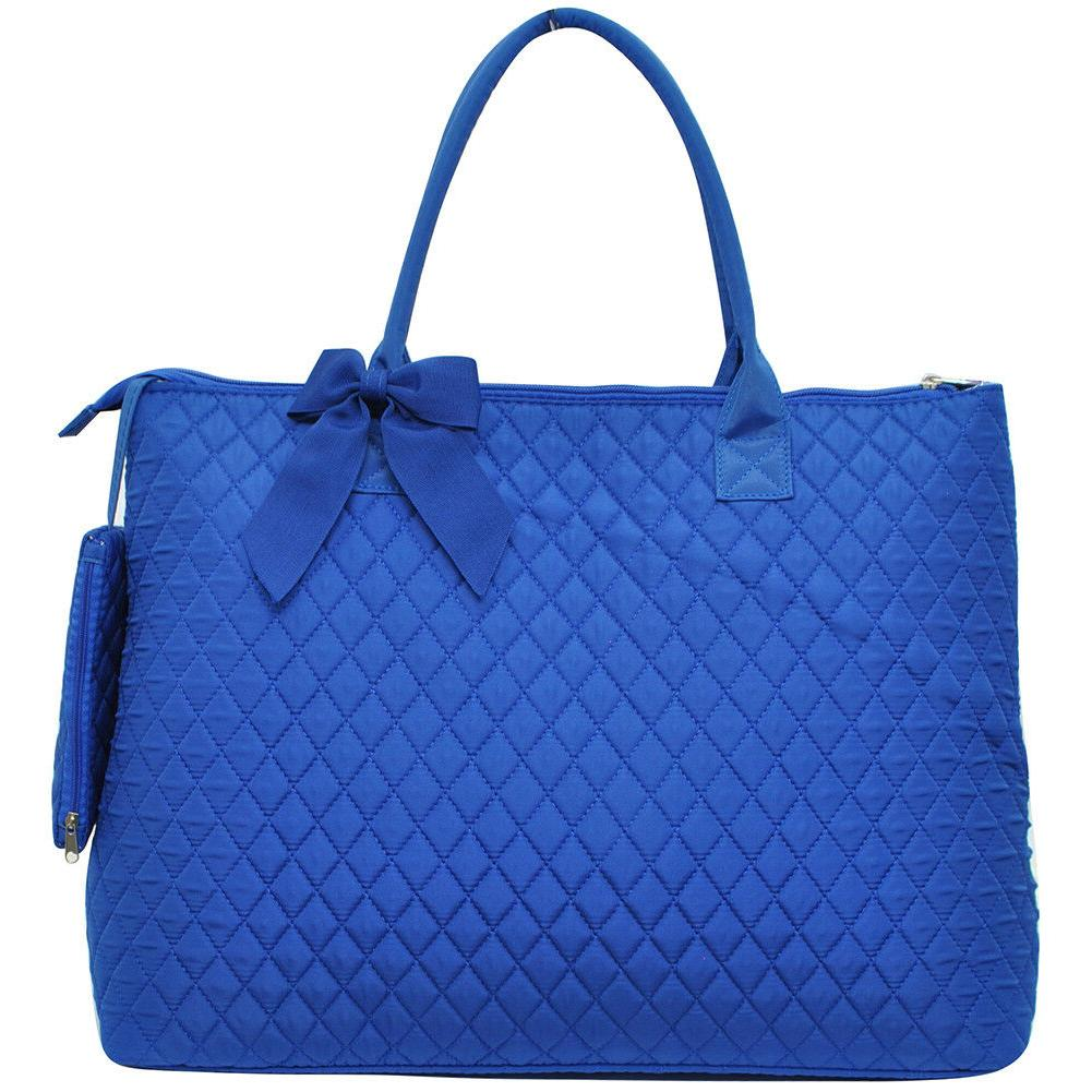Solid Color Royal Quilted Bag