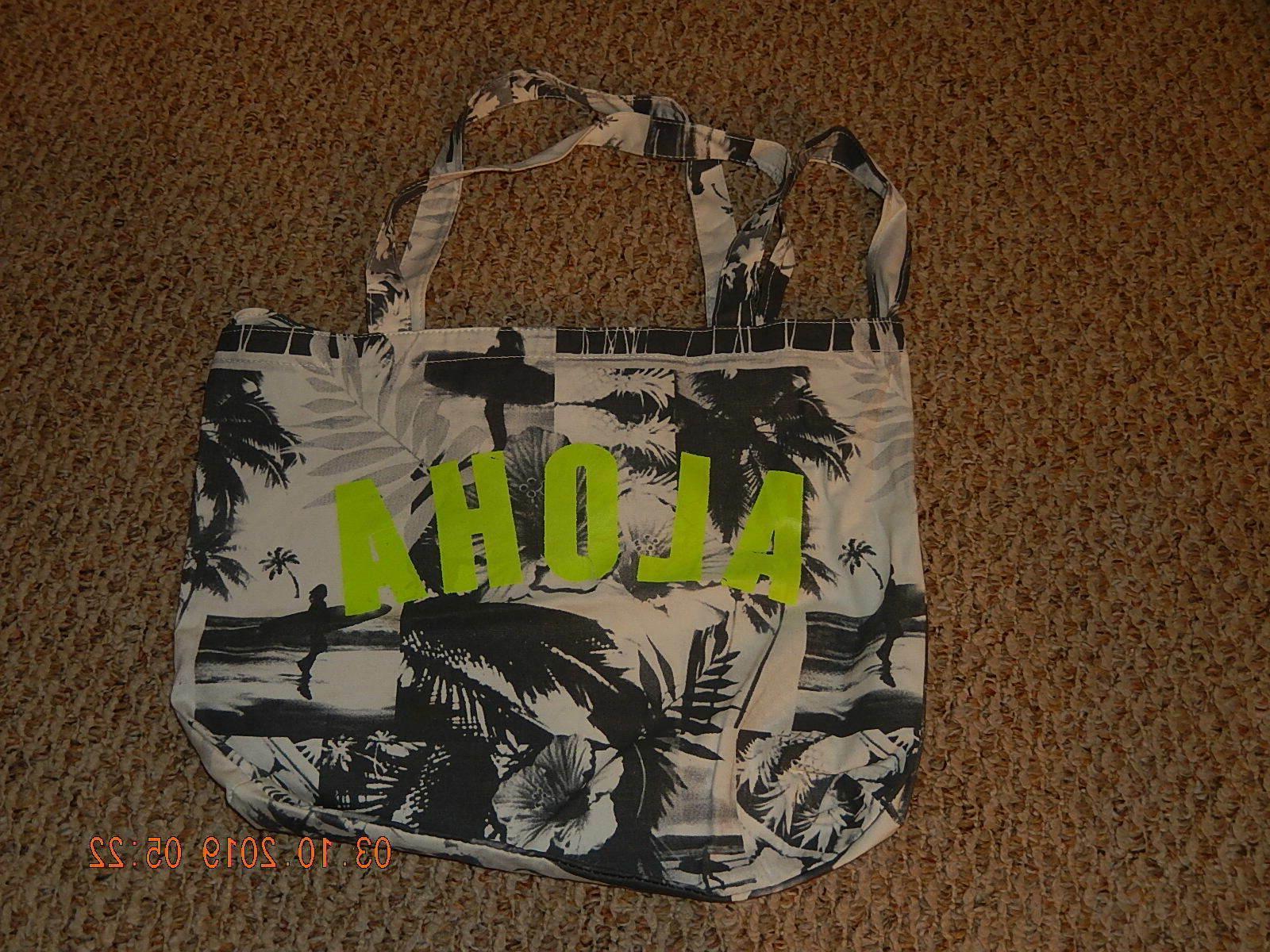stylish aloha cotton tote bag school bag