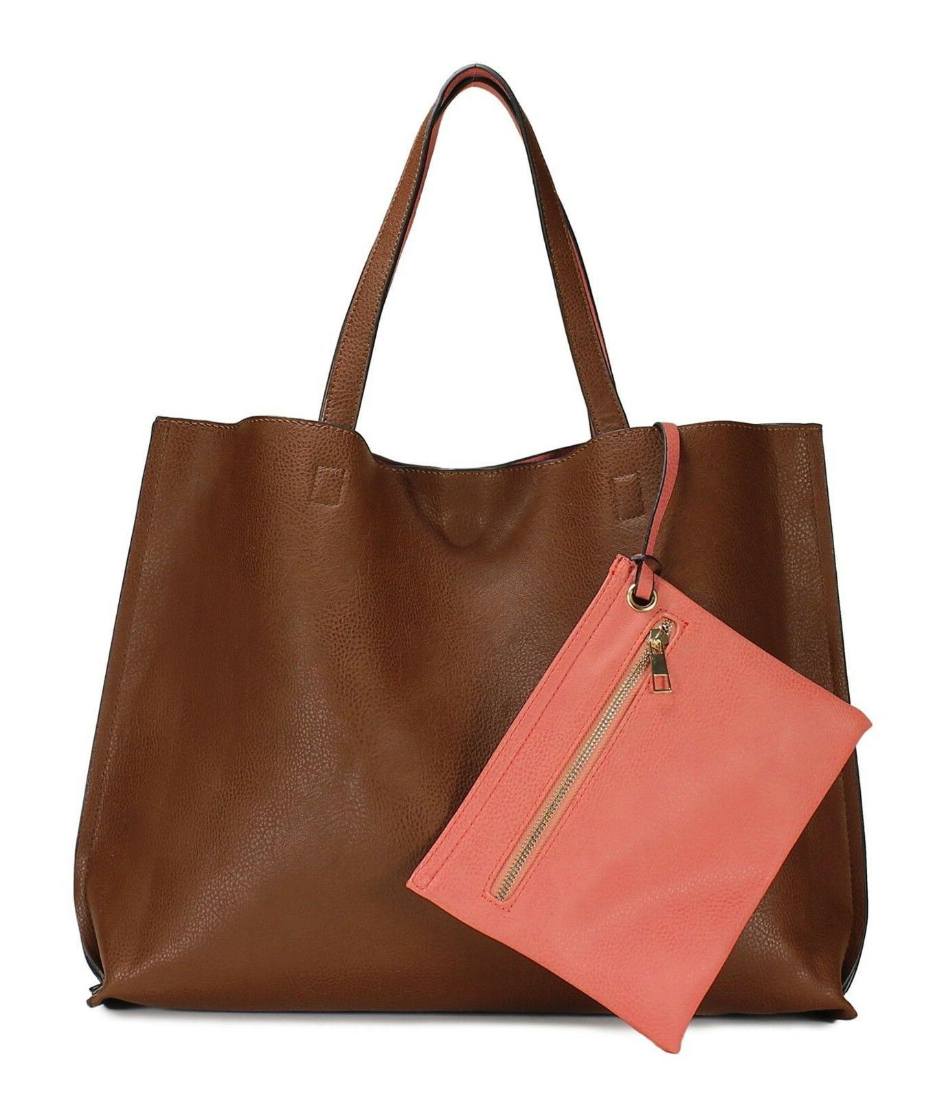 Scarleton Stylish Reversible Tote Bag H18420452 - Brown/Cora
