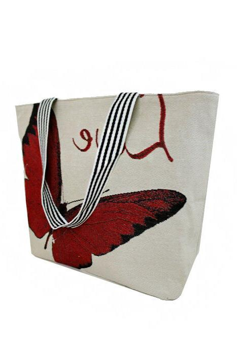 SUMMER TOTE BAGS WITH VARIOUS BUTTERFLY PRINTED DESIGNS