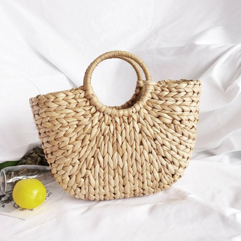 Summer Women Retro Wicker Handbag Bags Totes Straw