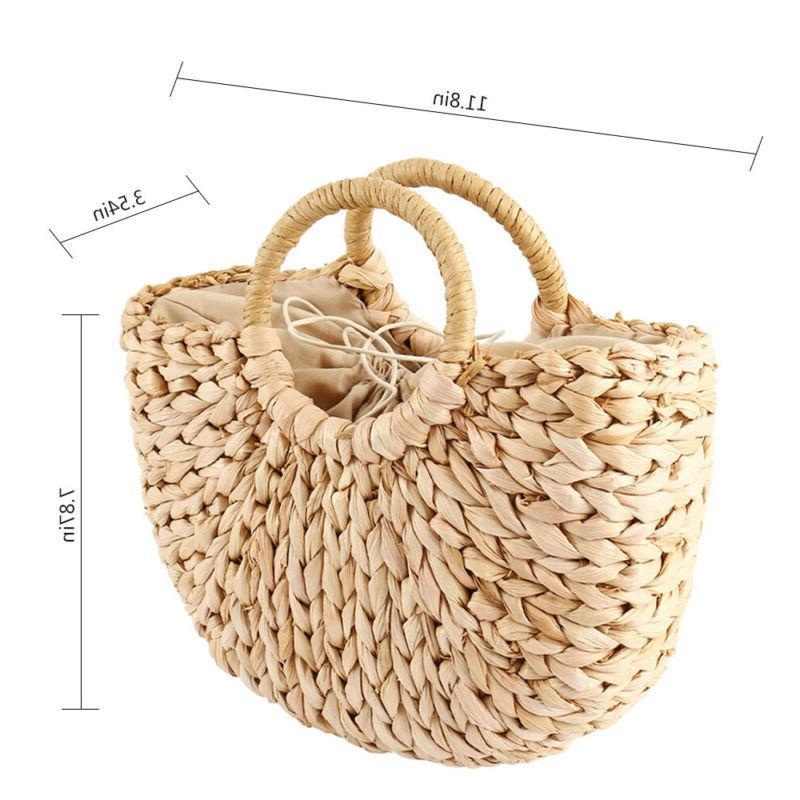 Summer Handbag Straw Rattan