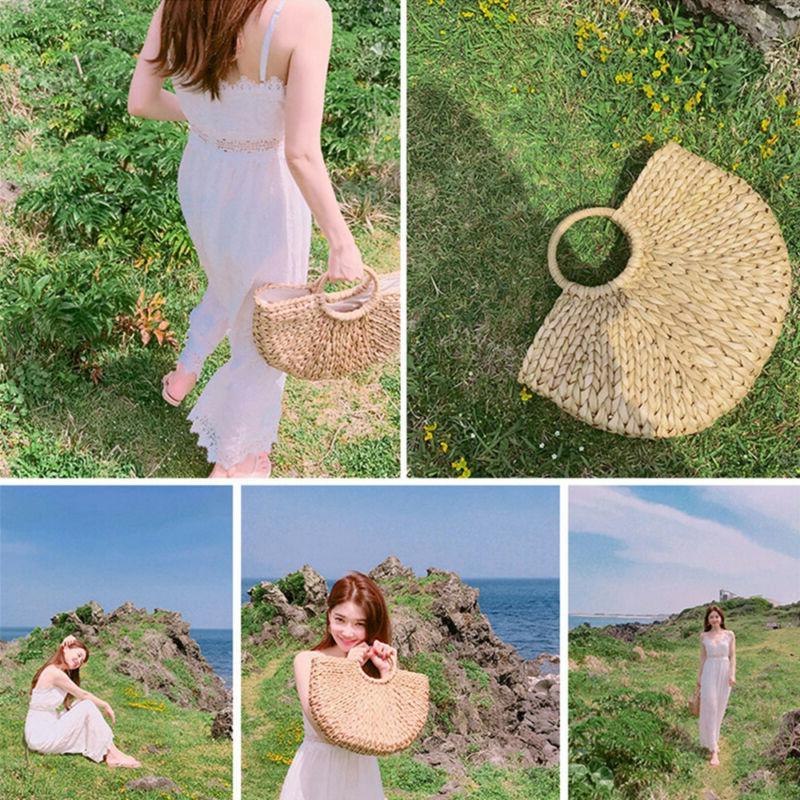 Summer Retro Handbag Bags Beach Straw Bag