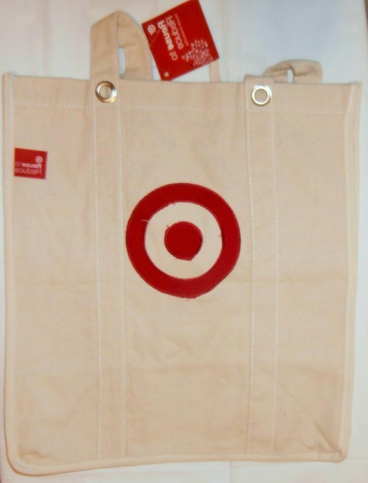 Target Reusable Canvas Shopping Tote Bags For Groceries Bag