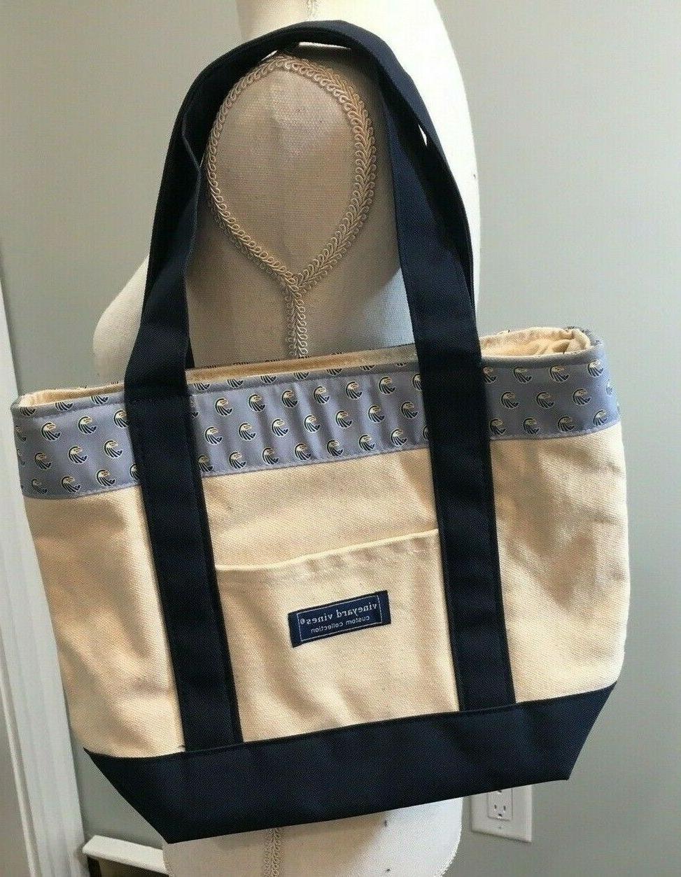 Vineyard Vines Tote Bag Custom Collection Canvas Eagles Blue
