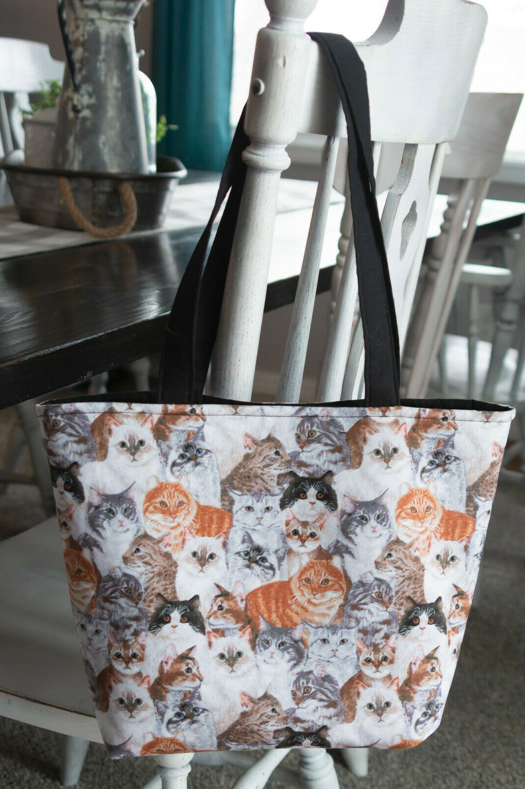 tote bag purse cats